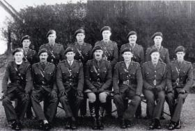Group photograph of officers, 225 Parachute Field Ambulance, January 1944.