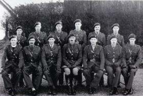 Group photograph of officers, 225 Parachute Field Ambulance, January 1944.