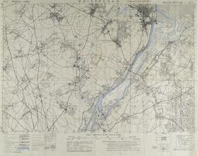 Map of Ouistreham (North West France) Ratio 1: 25,000