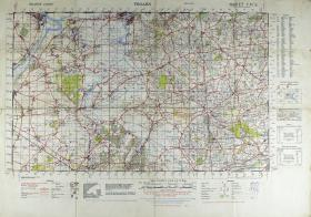 Map of Troarn (North West France) Ratio 1: 50,000