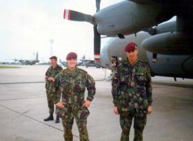 Pte Tony O'Toole and Pte 'Spud' Murphy, 23 PFA at Lyneham, Ex Fast Buzzard, 1988.