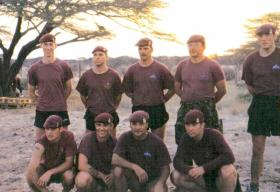 Members of 23 Parachute Field Ambulance (23 PFA), Kenya, date unknown.