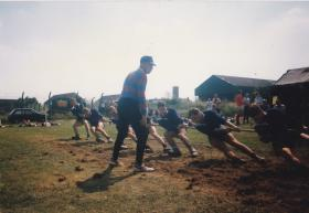 23 PFA Tug of War Team, Larkhill, 1988.