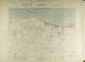 Map of Arromanches-Les-Bain (North West France) Ratio 1: 12,500