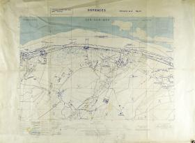 Map of Ver-sur-Mer (Calvados) Ratio 1: 12,500