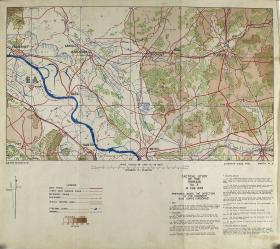 Map of Wessel including tactical study of the terrain, February 1945
