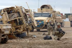 Soldiers from 7 Air Assault REME and 23 Engineer Regiment (Air Assault) on exercise, Camp Bastion, 2011