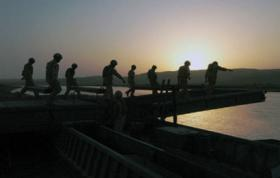 51 Parachute Squadron, 23 Engineer Regiment construct a bridge, during their deployment to Afghanistan, 2006