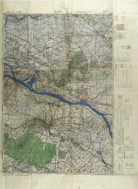 Map of Cleve (Kleve) Ratio 1: 50,000