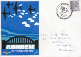 Commemorative envelope from 25th Anniversary of Arnhem, September 1969.