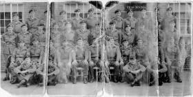 A battered photograph of  a platoon intake Maida Barracks c1965