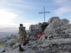 Members of 3 PARA at Mount Longdon Memorial, 11 June 2012.