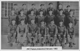 262 Platoon, Maida Barracks, February 1963