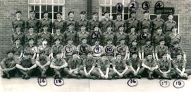 Intake photo of 279 Platoon, Maida Barracks, 1964.