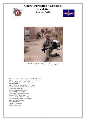 Guards Para Association Newsletter Summer 2011