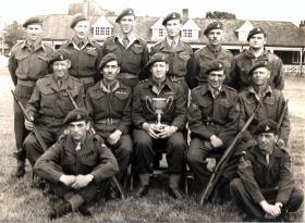 Regimental team, 285 (Essex) Airborne Light Regiment RA (TA), 1951.