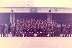 Group photograph of 289 Para Battery RHA (V), on Remembrance Day, 10 November, 1968