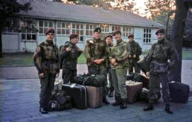 Members of 289 Parachute Battery RHA (V) at a Dutch base for the Arnhem 25th Anniversary 1969
