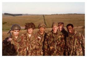 Endex 1 Coy, 10 PARA, Salisbury Plain, 1984.