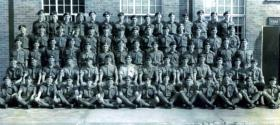 Intake photo of 297 Platoon, Maida Barracks, 1965.