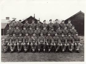 Group portrait of 3 Platoon, A Coy, 1 Para, Oct 1957