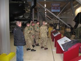 Visit of D COY, 3 PARA to Airborne Assault, Duxford, Jan 2015.
