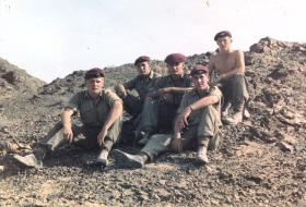 Members of 7 Platoon C Coy 3 PARA on exercise in Oman 1960s