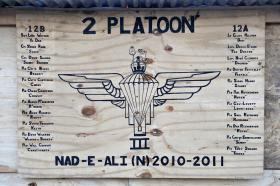 Insignia for 2 Platoon, A Company 3 PARA, Afghanistan, 2011