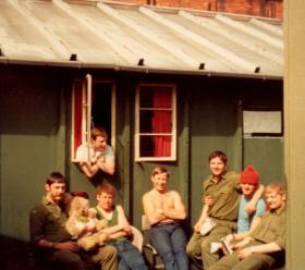 Tennent Street Police Station, Shankill Road, Belfast, 1970s.