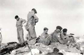 Members of 3 PARA resting, Canal Zone border, January 1952.