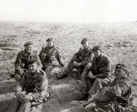 Resting up, members of 3 PARA, Canal Zone border, January 1952.