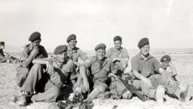 Members of 3 PARA near the Canal Zone border, January 1952.