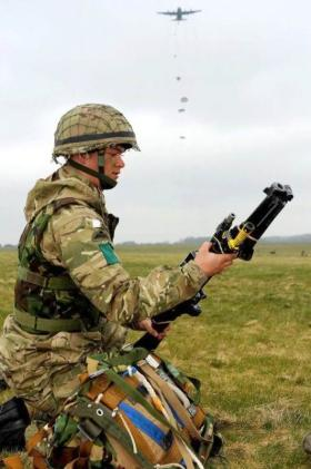 A Member of 3 PARA takes part in Exercise Eagles Flight, 2012.