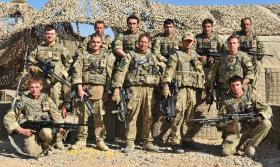 Group photo of soldiers from 3 PARA, Afghanistan, 2011