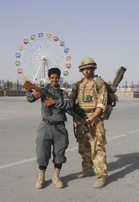 3 PARA support the Afghan Police in Kandahar, Afghanistan, 2008