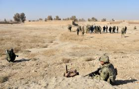 A joint patrol between 3 PARA and the Afghan National Army (ANA), Afghanistan, 2011