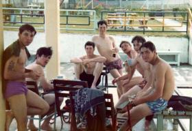 Members of 3 PARA relaxing in Singapore, 1975.