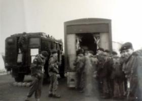 Members of 3 PARA training jump, c1956.