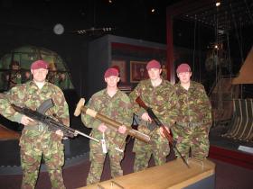 A visit by 3 PARA to the Airborne Assault Museum, Duxford, 2012