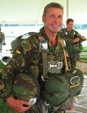 S/Sgt Bill Hounsome, ready to emplane, Leapfest, Rhodes Island, 2007.