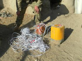Recovered Improvised Explosive Device (IED), Afghanistan, 2011