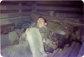 Kevin Swartze, 4 PARA Mortars, sneaking 40 winks in Minnesota, 1983