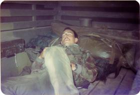 Kevin Swartze, 4 PARA Mortars, sneaking 40 winks in Minnesota, 1983