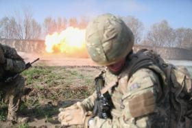 A Soldier from 23 Engineer Regiment (Air Assault), Detonates a Charge, Afghanistan 2011