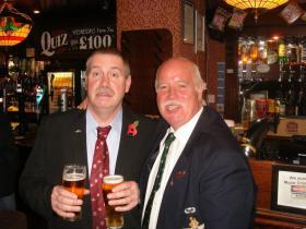 Tim White (Ex 4 Para) & Jim Bartley (Ex 3 Para). Date Unknown.