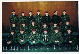 Members of B Coy 2 PARA, March & Shoot winners 39 Bde competition, 1995.