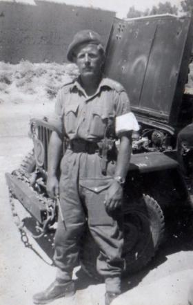 Bill Copinger-Symes on exercise in Cyprus, 1951.