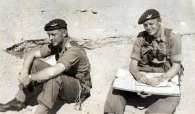 Brian Clarke and John Hutton, 3 PARA, Canal Zone, 1952.