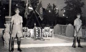 3 PARA Drums & Colours Ledra Palace Hotel, Cyprus, 1951.