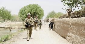 Soldiers from A COY, 3 PARA, on Patrol, Showal, Afghanistan, 2011